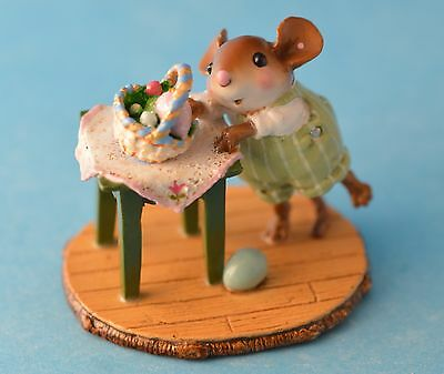 TIPPY BASKET by Wee Forest Folk, WFF# M-408, Cute Easter Mouse, Retired