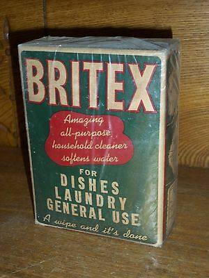 Vintage New Old Stock Never Opened Box - Britex All Purpose Household Cleaner