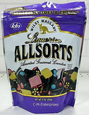 Wiley Wallaby Liquorice Allsorts Assorted Gourmet Candies 9 oz