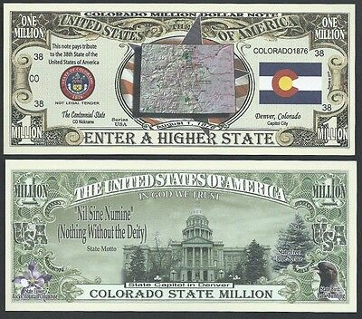 FREE SLEEVE classic State of Illinois Dollar Bill Fake Funny Money Novelty Note