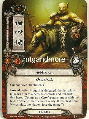 Lord of the Rings LCG  - 1x Mugash  #024 - The Voice of Isengard