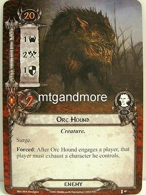 Lord of the Rings LCG  - 1x Orc Hound  #040 - The Voice of Isengard