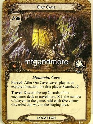 Lord of the Rings LCG  - 1x Orc Cave  #028 - The Voice of Isengard