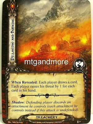 Lord of the Rings LCG  - 1x Pillaging and Burning  #021 - The Voice of Isengard