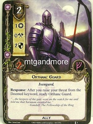 Lord of the Rings LCG  - 1x Orthanc Guard  #004 - The Voice of Isengard