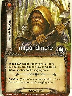 Lord of the Rings LCG  - 1x Turned around  #052 - The Voice of Isengard