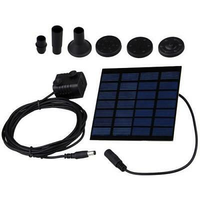 Solar Powered Pumping Pool Fountain Water Pump Aquarium Garden Plants Watering