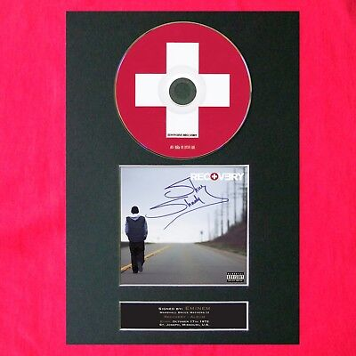 EMINEM Recovery Album Signed CD COVER MOUNTED A4 Repro Autograph Print (23)