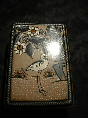 Ceramic potter trinket jewelry box from Mexico  New w tags