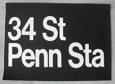 1980s RedBird NYC New York Subway Sign Helvetica Collectible MSG PENN STATION