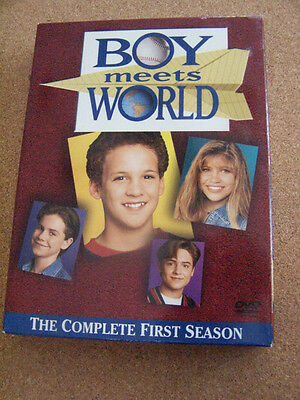 Boy Meets World - The Complete First Season (DVD, 2004, 3-Disc Set) Like New