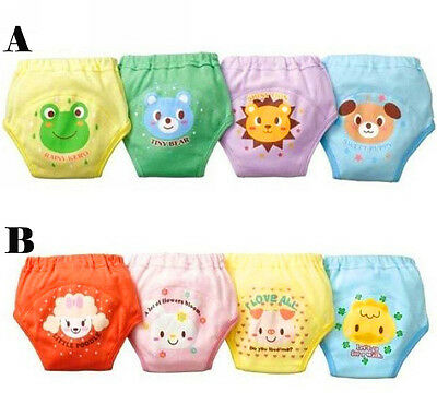 4 pcs Baby Toddler Boys 4 Layer Waterproof Potty Training Pant Reusable Cute LH