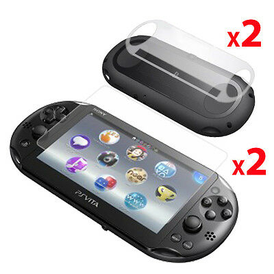 2 x FRONT & BACK CLEAR Screen Protectors for Sony Playstation PS VITA SLIM /2000
