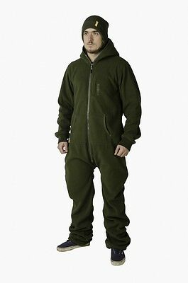 Navitas Apparel NEW Fleece Rompa Fishing Onesie Suit Rifle Green *All Sizes*