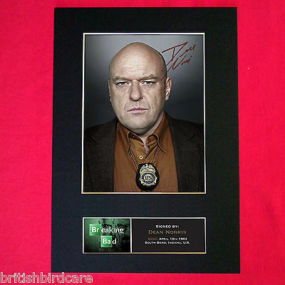 DEAN NORRIS Breaking Bad Signed Autograph Mounted Photo Repro A4 Print 429