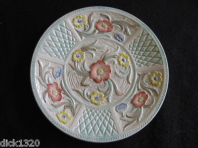 "VINTAGE H.J.WOOD BURSLEM HAND-PAINTED 9"" PLATE Pattern 1801 c.50's"