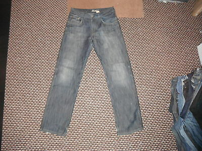 "And & Fit Bragg Jeans Waist 28"" Leg 28.5"" Faded Dark Blue Boys 12/13 Yrs Jeans"
