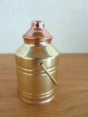 "Miniature Brass & Copper Milk Can  2 1/2"" H"