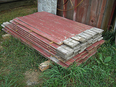 Antique Barn Siding Bead Board RED.as found by the sq foot.. • CAD $5.04