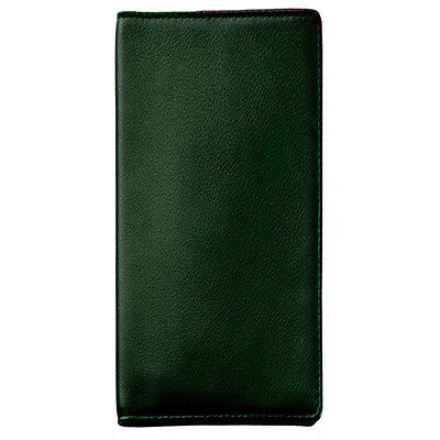 Royce Leather Passport Ticket Holder, Top Grain Nappa Leather, Green