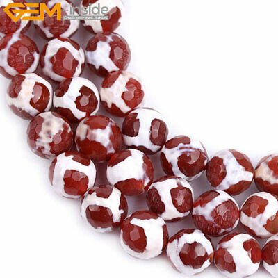 "10mm Round Faceted Turtleback Agate Stone Beads For Jewelry Making 15"" Wholesale"