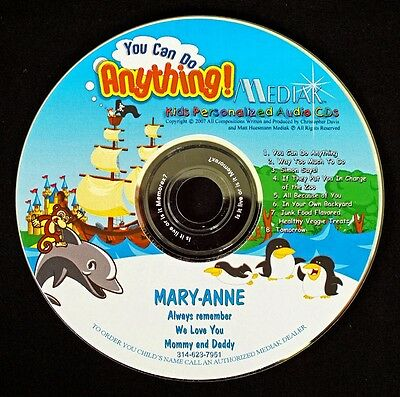 You Can Do Anything Personalized CD - Child's Name 106  Archival CD Disc
