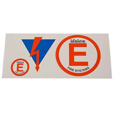 Lifeline Racing/Rally/Motorsport Decal Pack - Fire Extinguisher Safety Sticker