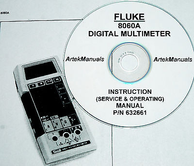 FLUKE 8060A DMM Operating & Service Manual with schematics