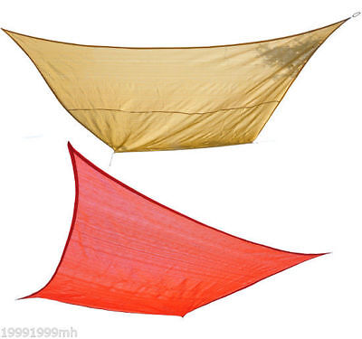 Outsunny Square 12' 16' 24' Canopy Patio Cover Sun Shade Sail Pool Porch Yard