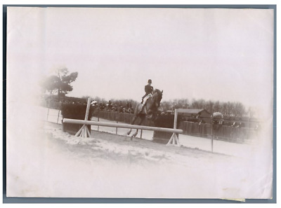 Hippodrome, Course d'obstacles  Vintage citrate print.  Tirage citrate  10
