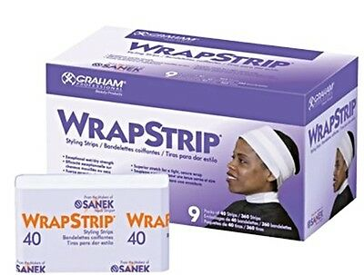 Graham Sanek WRAPSTRIP Styling Hair Wrapping 360 Strips Salon Supply Beauty New