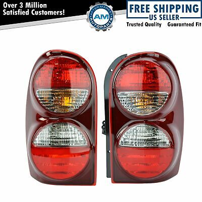 Rear Taillights Taillamps Left & Right Pair Set NEW for 05-07 Jeep Liberty