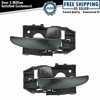 Front or Rear Black Inside Inner Interior Door Handle Pair Set for 01-06 Elantra