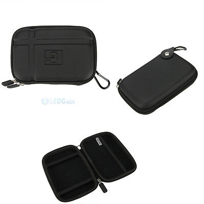 """New 5.2"""" Inch Black Hard shell GPS Case Cover Carry GPS fits Garmin Nuvi"""
