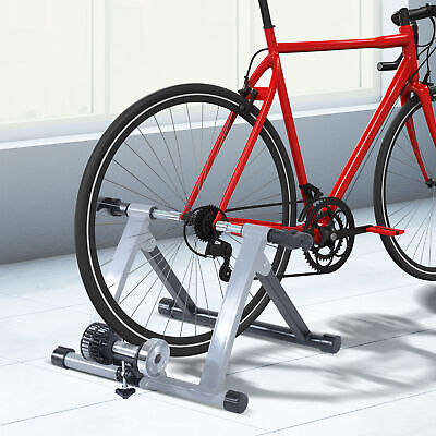 Soozier Indoor Bicycle Trainer Stand Exercise Support Workout Training Silver