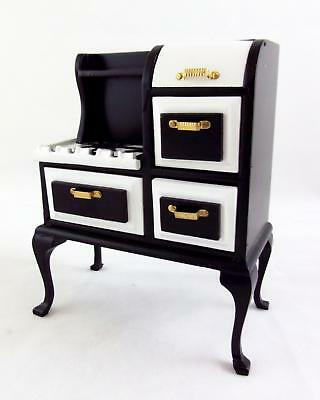 Melody Jane Dolls Houses 1:12 Wooden Kitchen Furniture 1920's Stove Cooker Oven