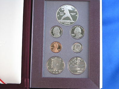1992-S US Prestige Proof Set With Olympic Commemorative Silver Dollar B4532