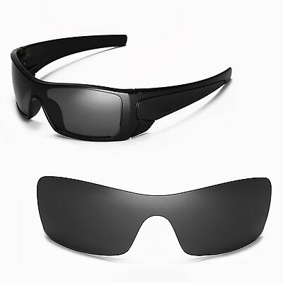 New Walleva Black Replacement Lenses For Oakley Batwolf Sunglasses