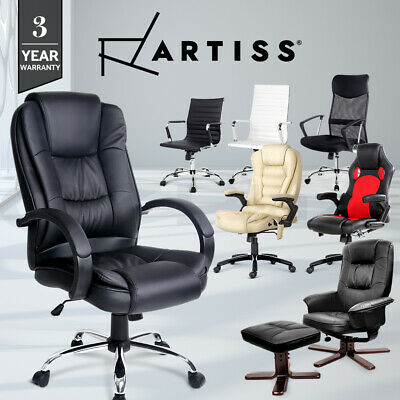 Prime PU PVC Leather Office Mesh Chair Home Computer Desk Executive Racer Lounge
