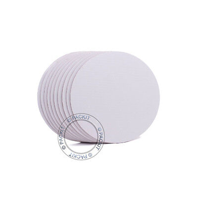 """10 x Cake Boards Round White 8"""" Decoration Displays FREE SHIPPING"""