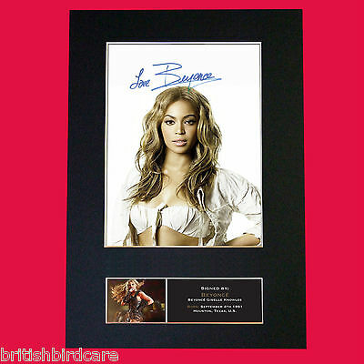 BEYONCE #2 Signed Autograph Mounted Photo REPRODUCTION PRINT A4 440