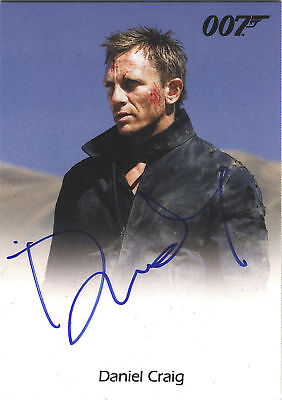 James Bond 007 MISSION LOGS DANIEL CRAIG AUTOGRAPH CARD