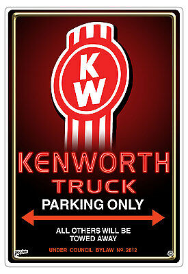 Kenworth Truck Parking Only Sign