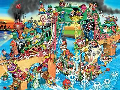 CEACO COMIC RELIEF JIGSAW PUZZLE PIRATES OF THE MISSISSIPPI ROBERT CRISP 750 PCS