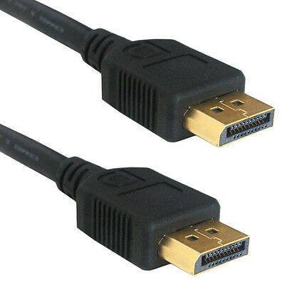 1m DisplayPort Male to Plug Video Cable -V1.2 GOLD Monitor Lead- Display Port DP