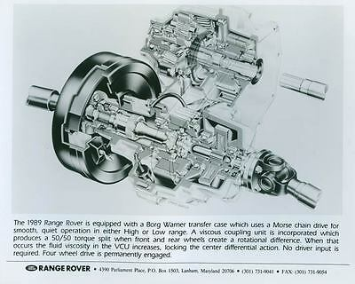 1989 Range Rover Borg Warner Transfer Case Photo Poster zch4210