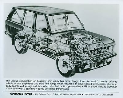 1989 Range Rover Photo Poster zch4209