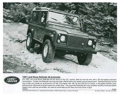 1997 Land Rover Defender 90 Automatic Photo Poster zch4215