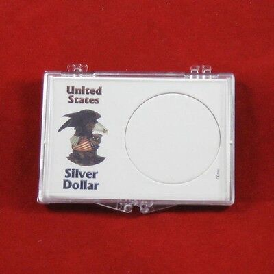 Snaplock Coin Cases Holders Silver Dollars, White with Eagle, 20 count