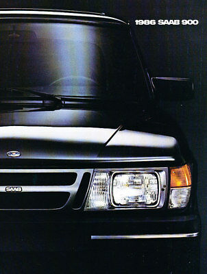 1986 Saab 900 and APC Original Car Sales Brochure Folder